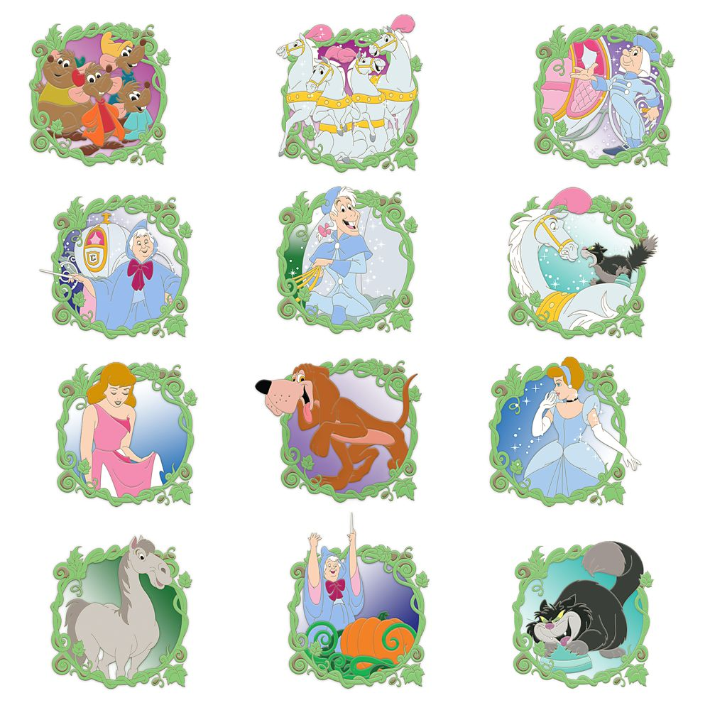 Cinderella 70th Anniversary Mystery Pin Set – Limited Release