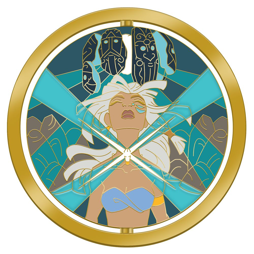 Princess Kida Spinner Pin – Atlantis: The Lost Empire – Enchanted Emblems – Pin-of-the-Month – Limited Edition