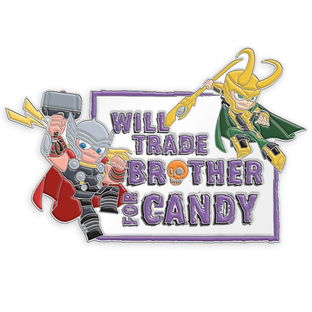 Thor and Loki Halloween Pin