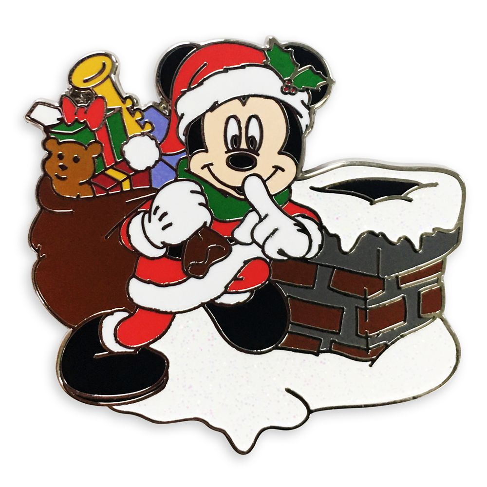 Santa Mickey Mouse Holiday Pin