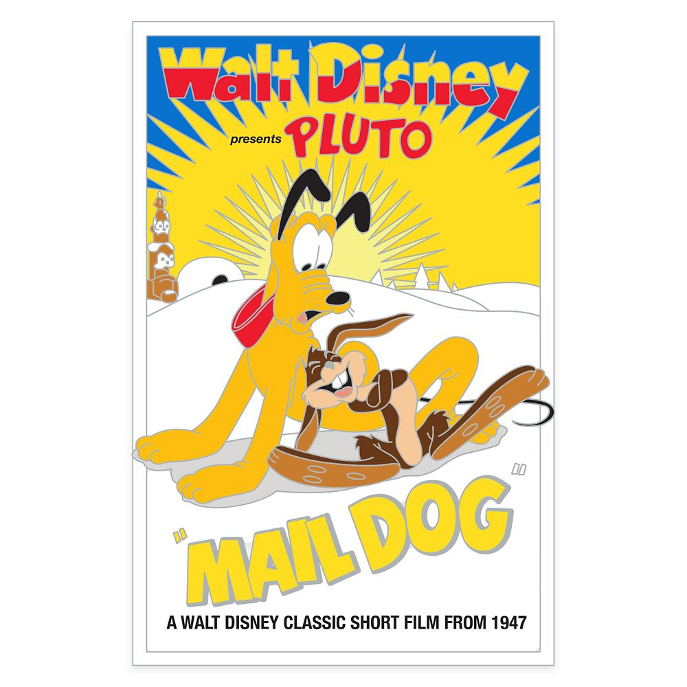 Pluto 90th Anniversary Pin – Mail Dog – Limited Edition
