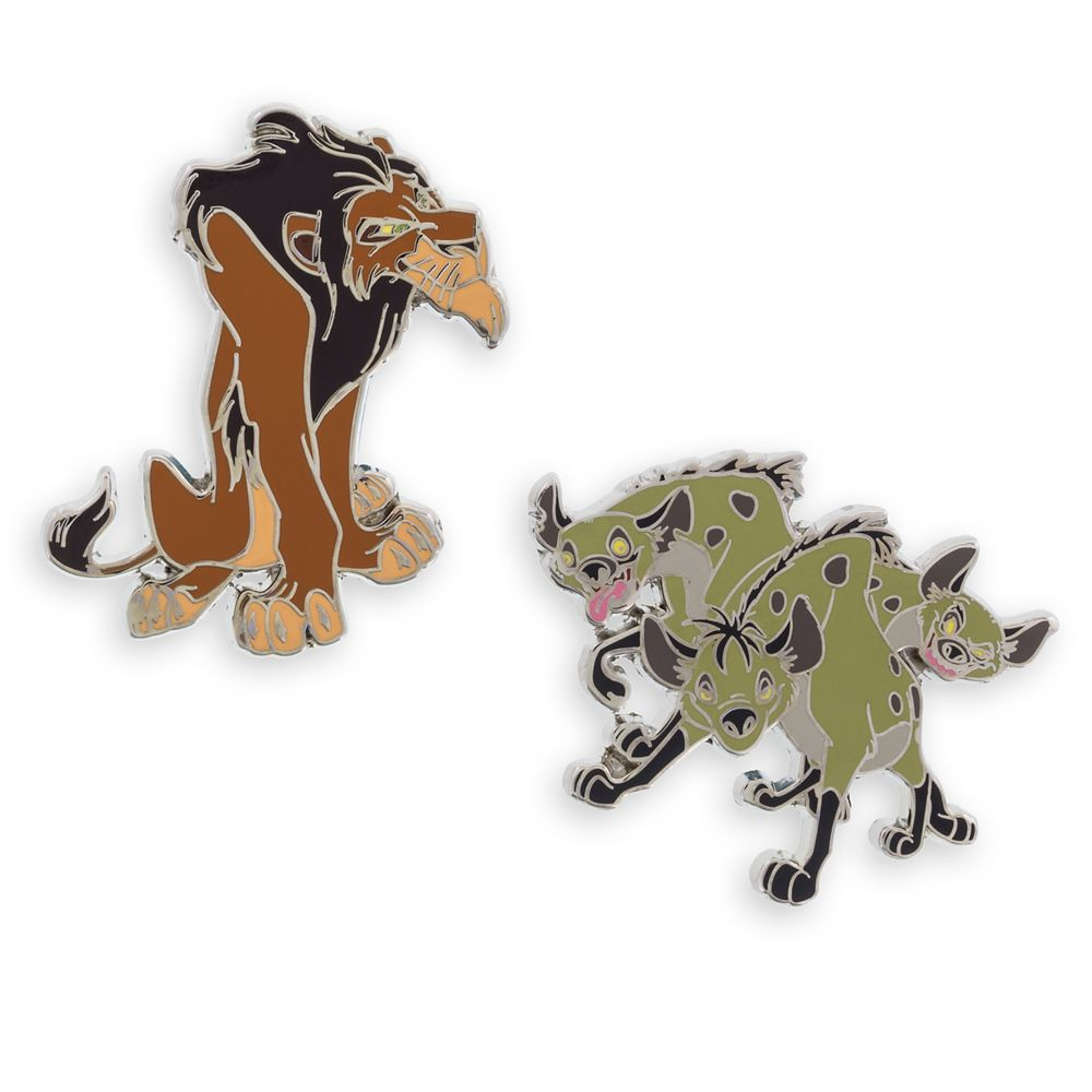 Scar and Hyenas Pin Set – The Lion King