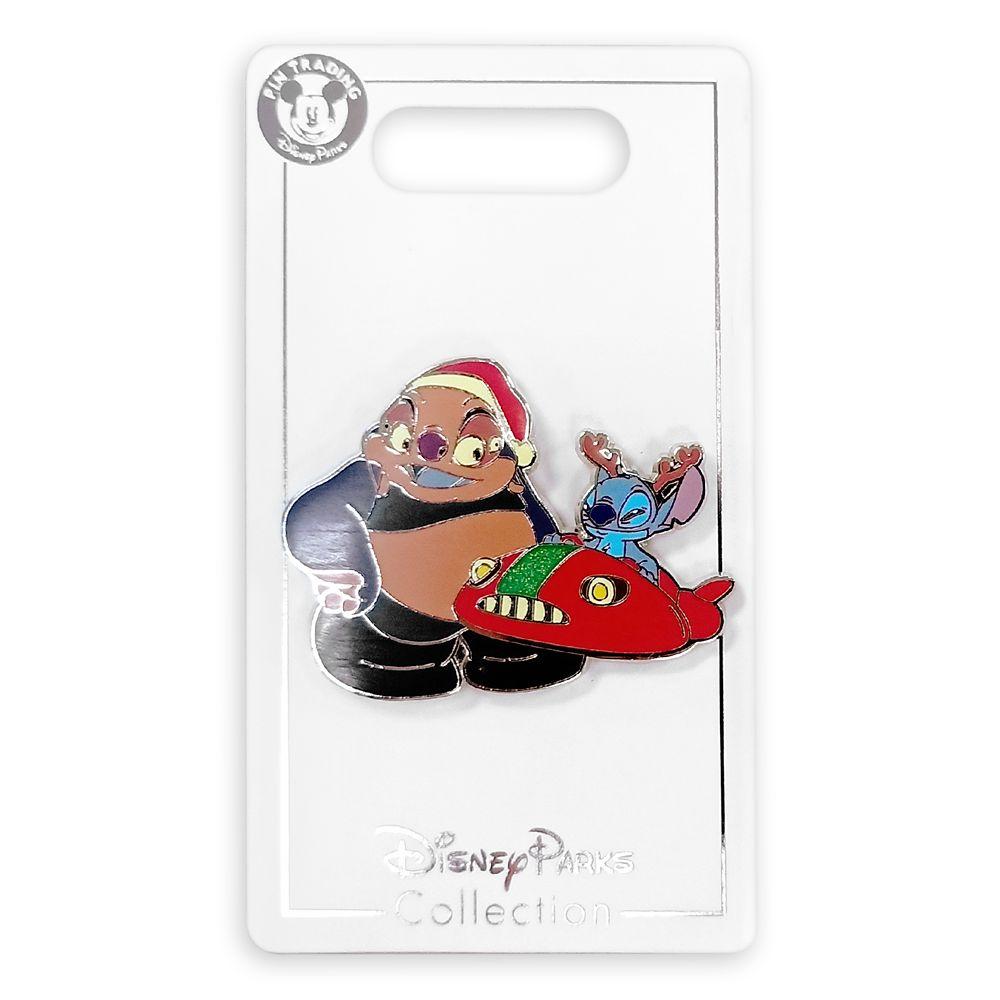 Stitch & Jumba Holiday Pin