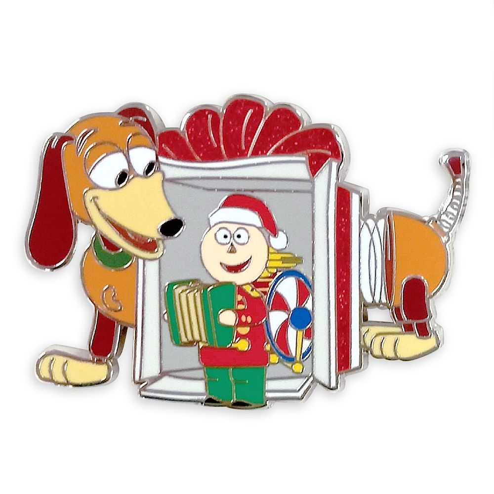 Slinky Dog and Tinny Holiday Pin – Toy Story – Tin Toy