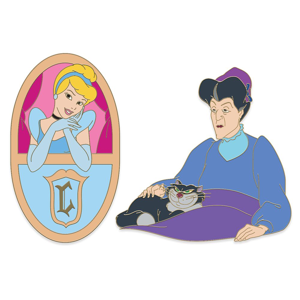 Cinderella and Lady Tremaine Meme D-Flair Pin Set