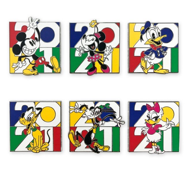 Mickey Mouse and Friends Pin Trading Booster Set –Disney Parks 2021