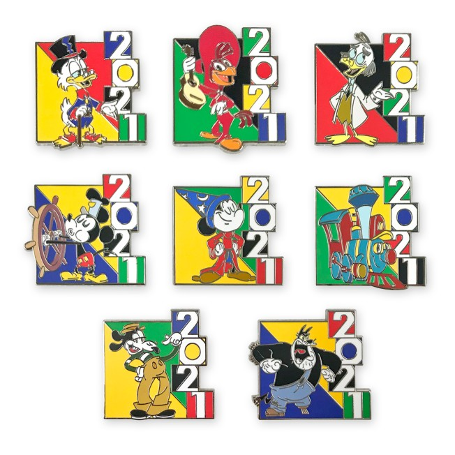Mickey Mouse and Friends Mystery Pin Set – Disney Parks 2021 –2-Pc.
