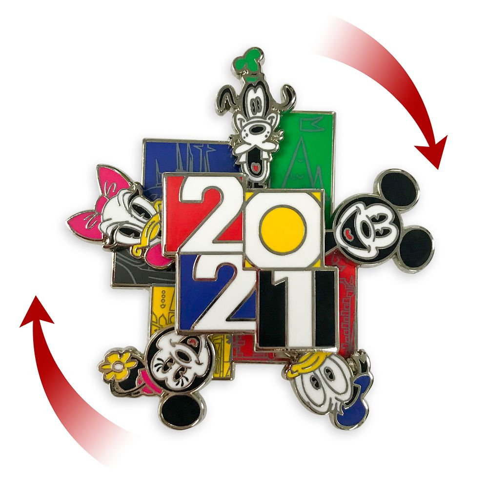 Mickey Mouse and Friends Spinner Pin – Disney Parks 2021