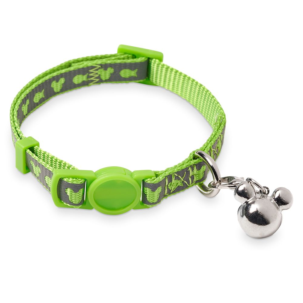 Mickey Mouse Reflective Cat Collar – Green