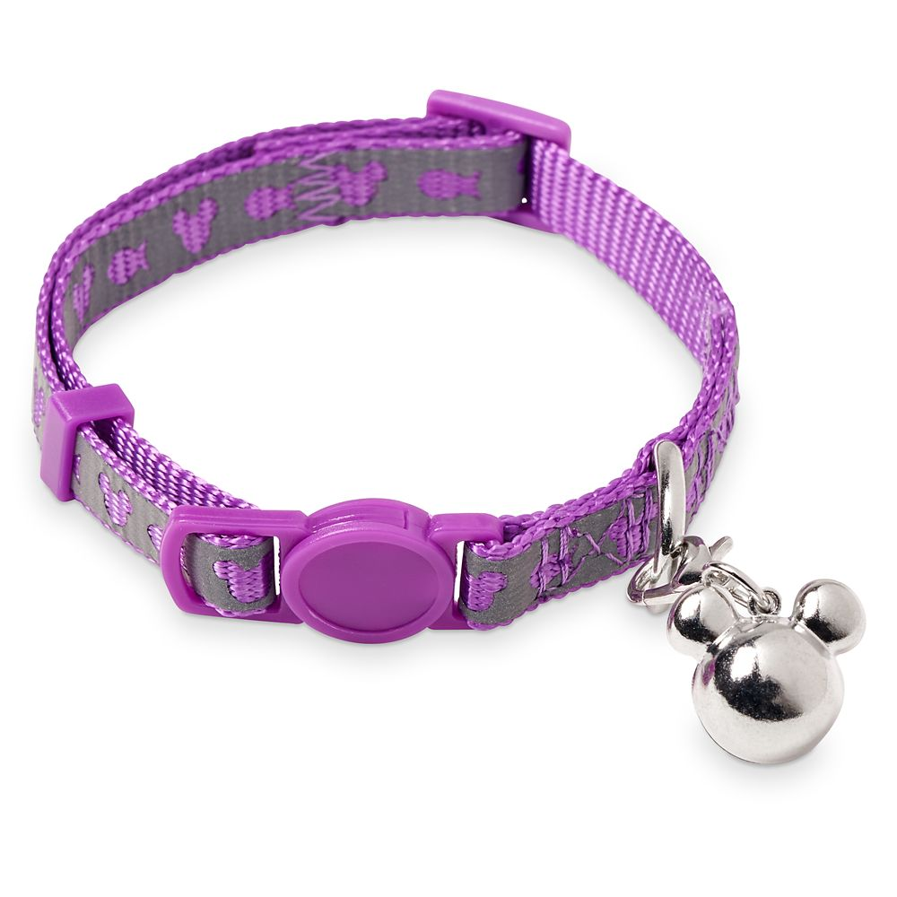 Mickey Mouse Reflective Cat Collar – Purple