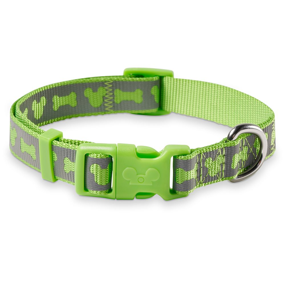 Mickey Mouse Reflective Dog Collar – Green