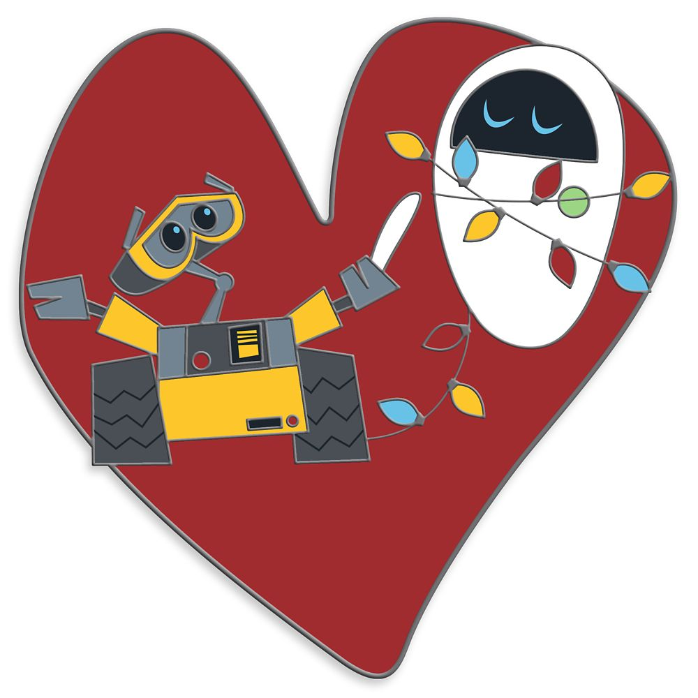 WALL•E and E.V.E. Heart Pin