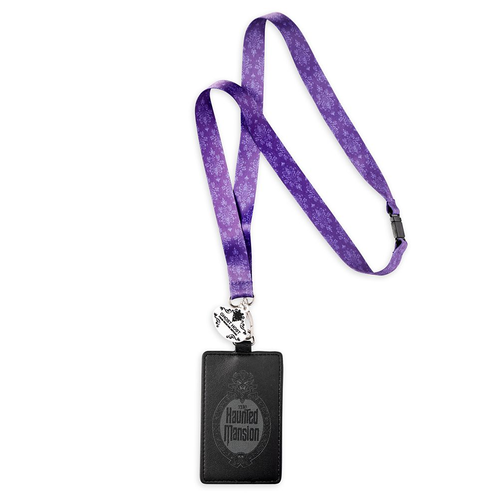 The Haunted Mansion Loungefly Lanyard and Card Holder