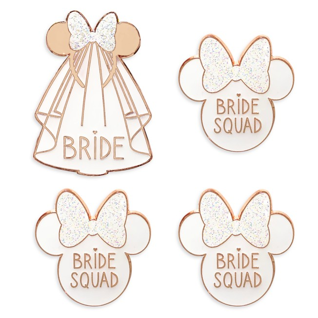 Minnie Mouse Icon ''Bride Squad'' Flair Pin Set