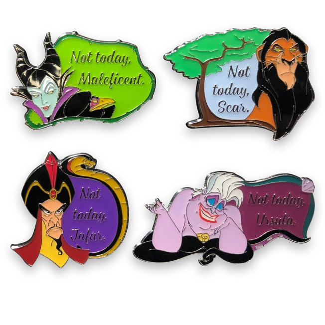 Disney Villains Flair Pin Set