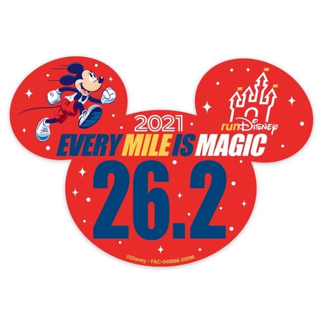 Mickey Mouse runDisney 2021 Magnet – 26.2