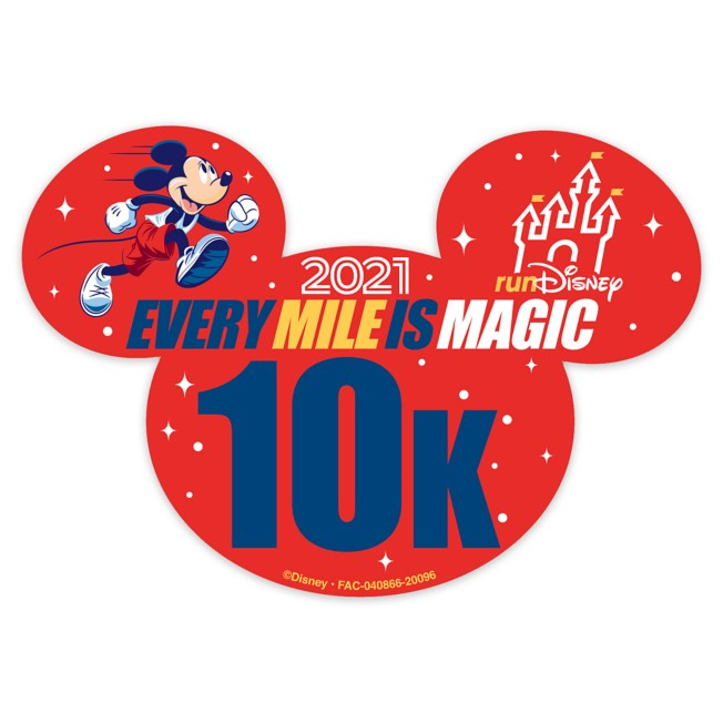 Mickey Mouse runDisney 2021 Magnet – 10K