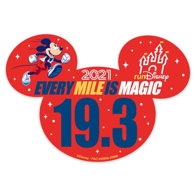 Mickey Mouse runDisney 2021 Magnet – 19.3