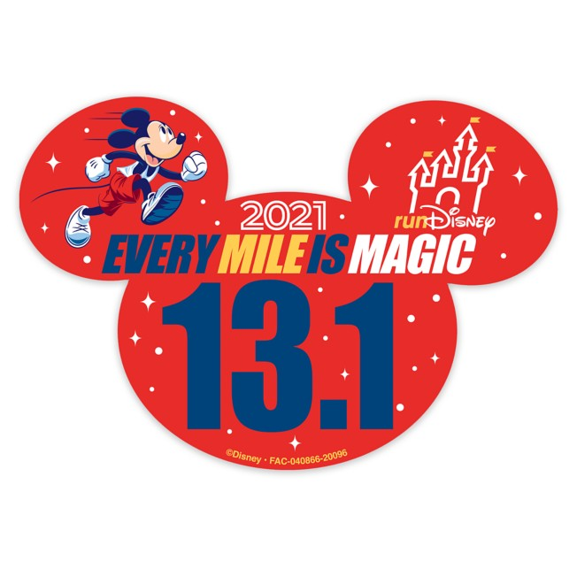Mickey Mouse runDisney 2021 Magnet – 13.1