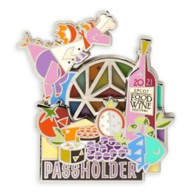 Figment Pin – Epcot International Food & Wine Festival 2021 Annual Passholder – Limited Release