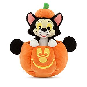 Figaro In Mickey Mouse Jack O Lantern Plush Small 11