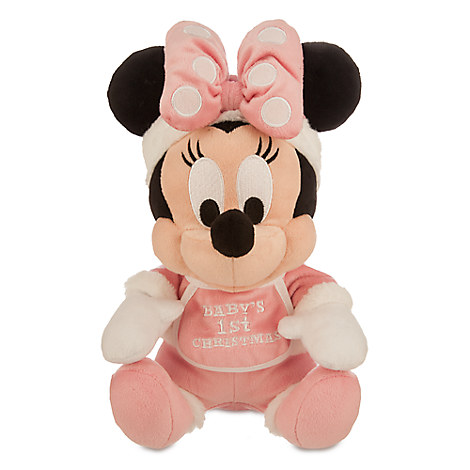 Minnie Mouse Holiday Plush - ''Baby's 1st Christmas'' - Small - 9''
