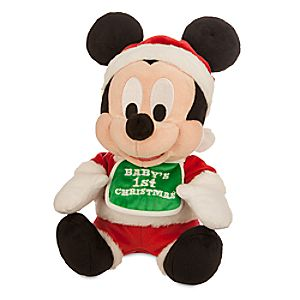 Mickey Mouse Holiday Plush - ''Baby's 1st Christmas'' - Small - 9''