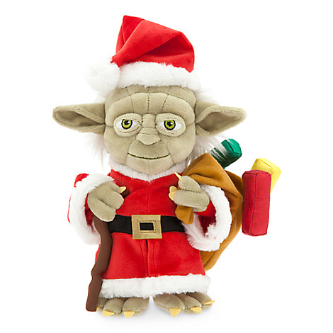 Santa Yoda Holiday Plush - Small - 9''