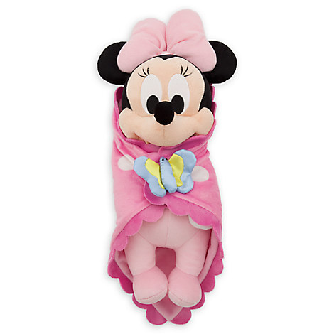 Disney's Babies Minnie Mouse Plush Doll and Blanket - Small - 10''