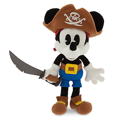 Mickey Mouse Plush - Pirates of the Caribbean - Small - 13''