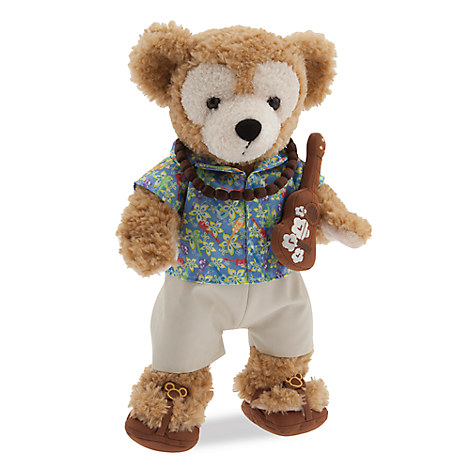 Duffy the Disney Bear Aloha Wear Costume - Aulani, A Disney Resort & Spa - 17''