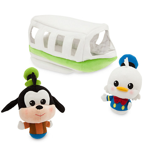 Donald Duck and Goofy Monorail Plush Playset