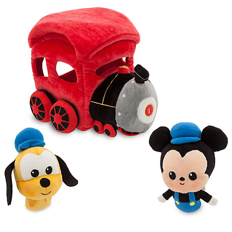 Mickey Mouse Train Plush Playset - 10''