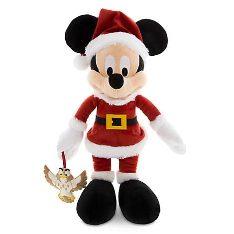 Santa Mickey Mouse Plush with Owl - Medium - 15''