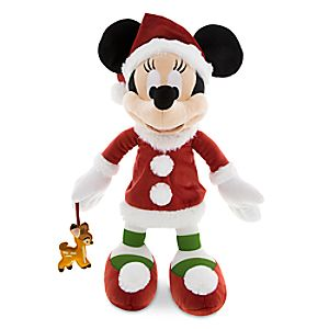 Santa Minnie Mouse Plush with Bambi - Medium - 15''