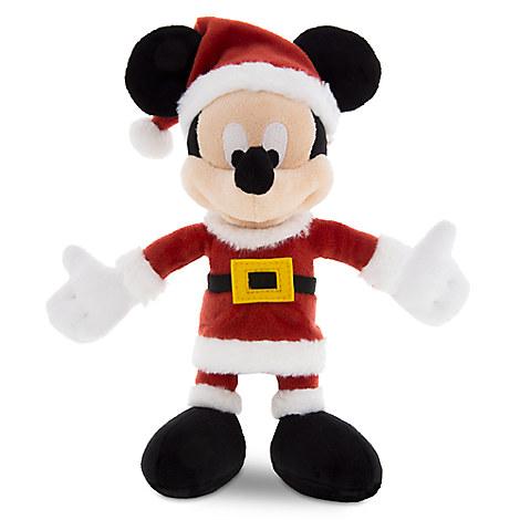Santa Mickey Mouse Plush - Small - 7''