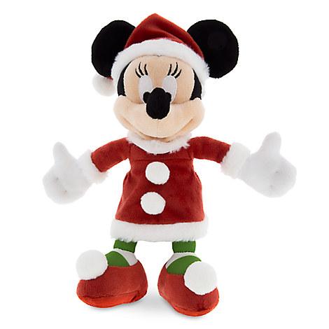 Santa Minnie Mouse Plush - Small - 7''