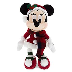 Santa Minnie Mouse Retro Plush - Small - 9''