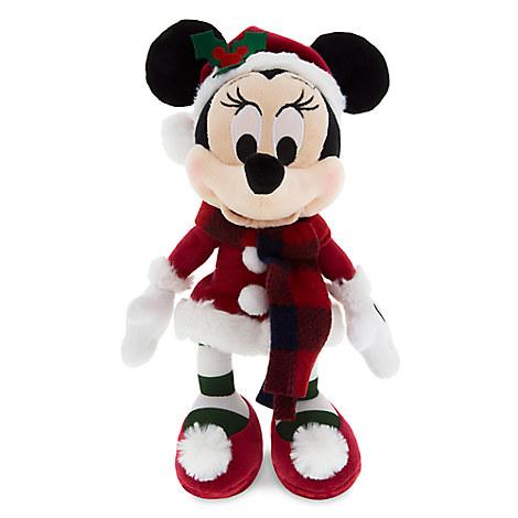 Santa Minnie Mouse Retro Plush - Small - 9''