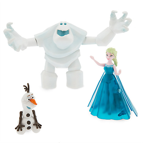 Elsa Light-Up Dress Figure Play Set