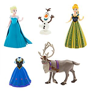 Anna and Elsa Dress Up Figure Set 7512057371416P