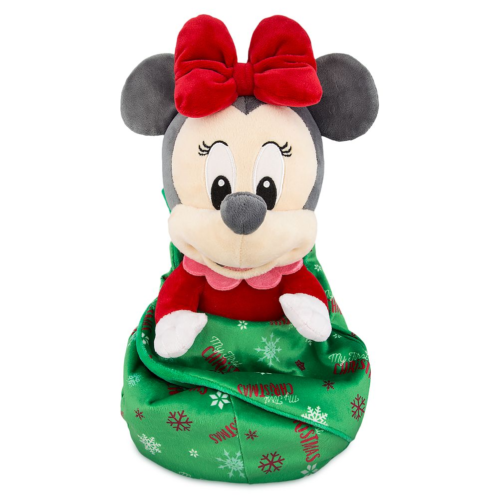 Christmas Minnie Mouse Plush.Minnie Mouse My First Christmas Plush With Blanket Pouch Disney Babies Small