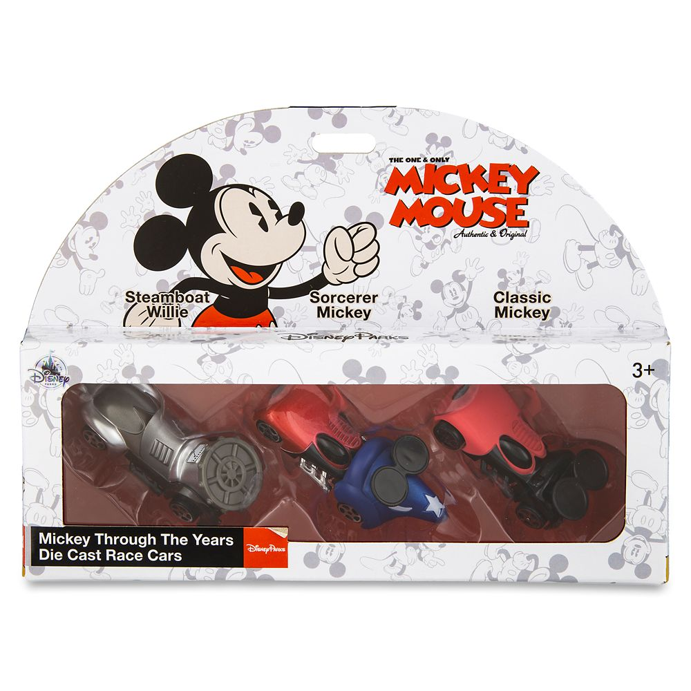 Mickey Mouse Through the Years Disney Racers Die Cast Set