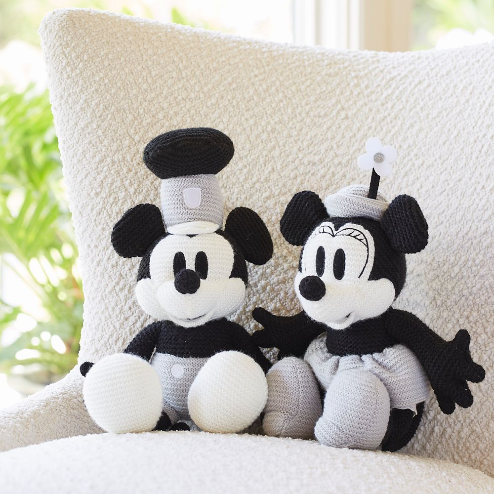 Mickey Mouse Knit Plush – Steamboat Willie – 15''