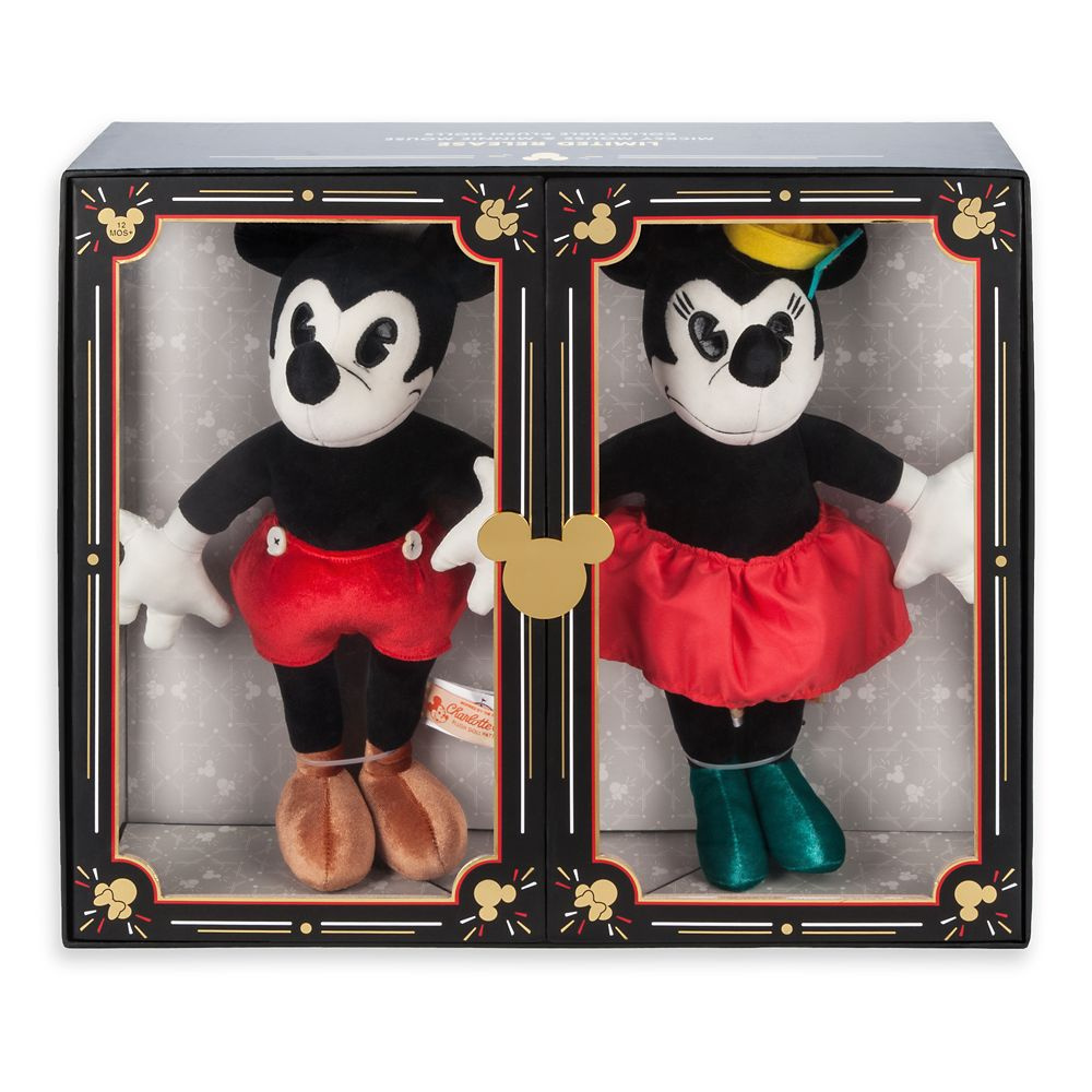 Mickey And Minnie Mouse Collectible Plush Doll Set Limited Release