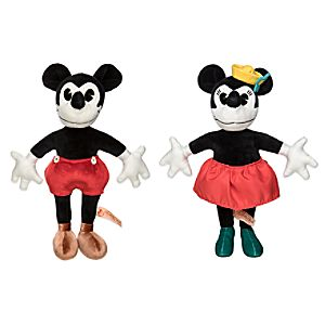 Mickey and Minnie Mouse Collectible Plush Doll Set - Limited Release