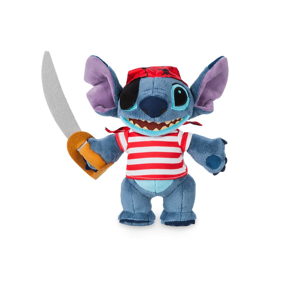 Stitch Plush  Pirates of the Caribbean  Disney Cruise Line  Small  10''