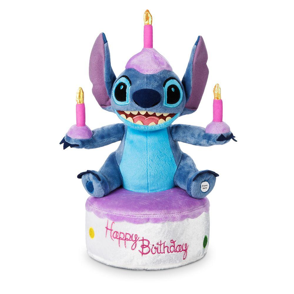 Stitch Birthday Cake Light-Up Plush – Medium