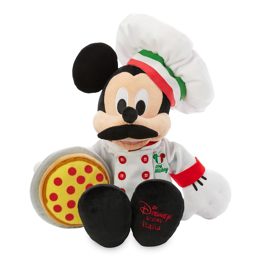 Mickey Mouse Chef Plush – Italy – World Showcase – Small – 15''