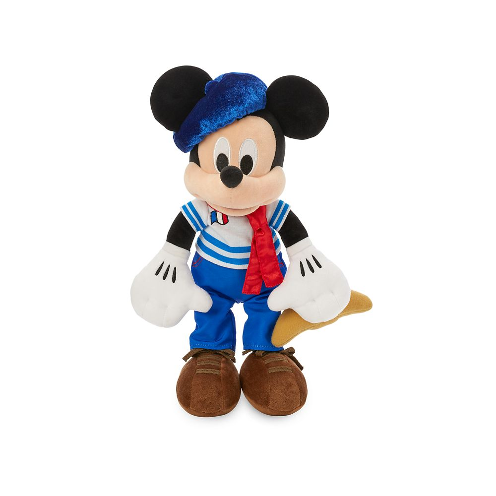 Mickey Mouse Parisian Plush – France – World Showcase – Small – 13''